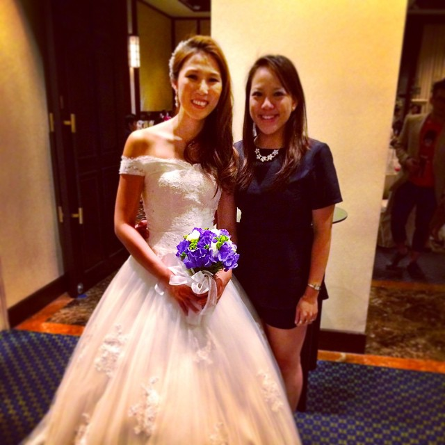 #doublejoy090115 the beautiful bride and I #mademyday @weeyizhen here's to more years of friendship to come!